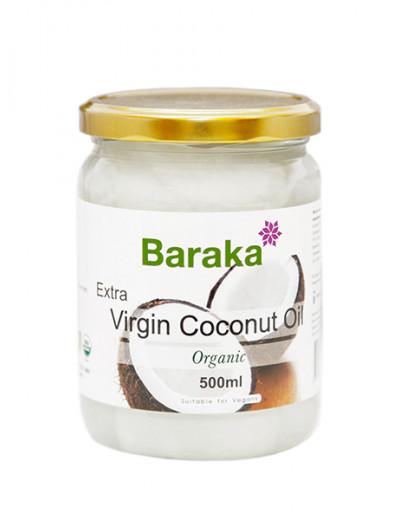 Кокосовое масло Барака Вирджин Нерафинированное Органик 500мл